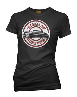 Elegant Customs O.G. Logo - Tee Shirt Elegant Customs Clothing (Black)