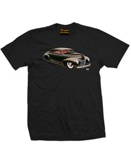 1939 - 1940 Mercury Convertible Coupe - Mens Tee Shirt Elegant Customs Clothing (Black)