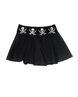 The Jolly Roger - Skater Skirt Aesop Originals Clothing (Black)