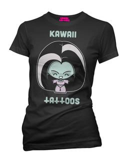 Lily Munster - Parody Tee Shirt Kawaii Tattoos Clothing (Black)