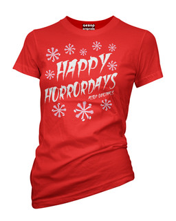 Happy Horrordays - Tee Shirt Aesop Originals Clothing (Red)