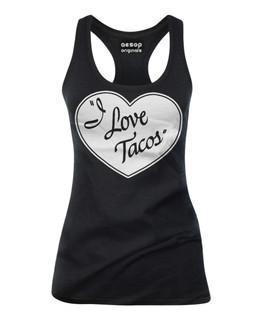I Love Tacos - Tank Top Aesop Originals Clothing (Black)