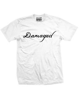 The Jokers Damaged Tattoo - Fan Art - Mens Tee Shirt Aesop Originals Clothing (White)