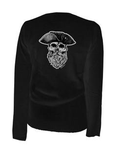 Ye Olde Salty Dog Pirate Captain - Cardigan Aesop Originals Clothing (Black)