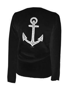 Pirate Of Destiny Anchor - Cardigan Aesop Originals Clothing (Black)