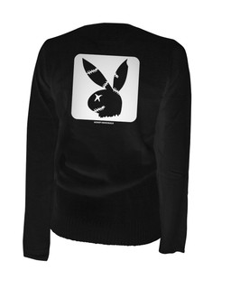 Zombie Bunny Cube - Cardigan Aesop Originals Clothing (Black)