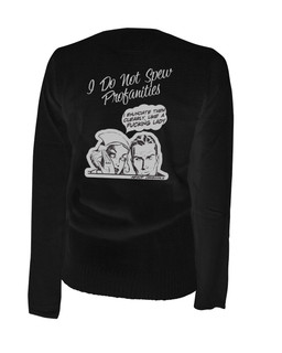 I Do Not Spew Profanities I Enunciate Them Clearly Like A Fucking Lady - Cardigan Aesop Originals Clothing (Black)