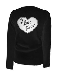 I Love Tacos - Cardigan Aesop Originals Clothing (Black)