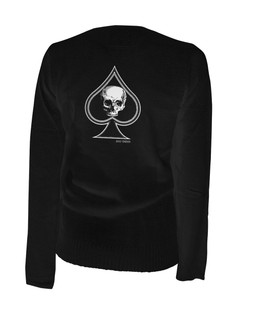 Thee Ace Of Spades - Cardigan Aesop Originals Clothing (Black)