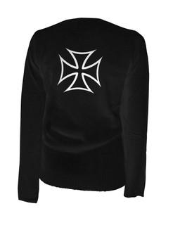 Iron Cross - Cardigan Aesop Originals Clothing (Black)