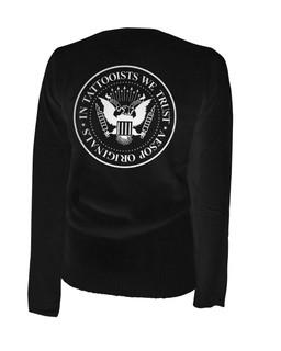 In Tattooists We Trust - Cardigan Aesop Originals Clothing (Black)