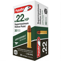 Aguila Supermaxium .22 LR Ammunition 30 Grain CP HP - 500 Rounds