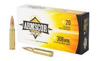 ARMSCOR 308 WIN 147GR Full Metal Jacket - 20 Round Box