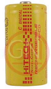 Hitech P-3000C Ni-Cd C Size Rechargeable Battery 3000mAh
