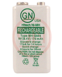 Hitech MH-G984 9V Rechargeable Battery Ni-MH 170mAh