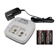 Hitech 9V Rechargeable Li-Ion Batteries and Twin-Bank Charger Set (2nd Generation)