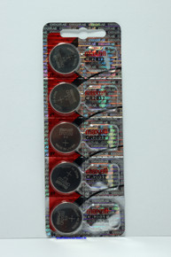 Maxell CR2032 Lithium 3V Coin Cell Battery in blister card of 5