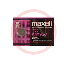 1 Maxell SR916W, 372 Silver Oxide Watch Battery