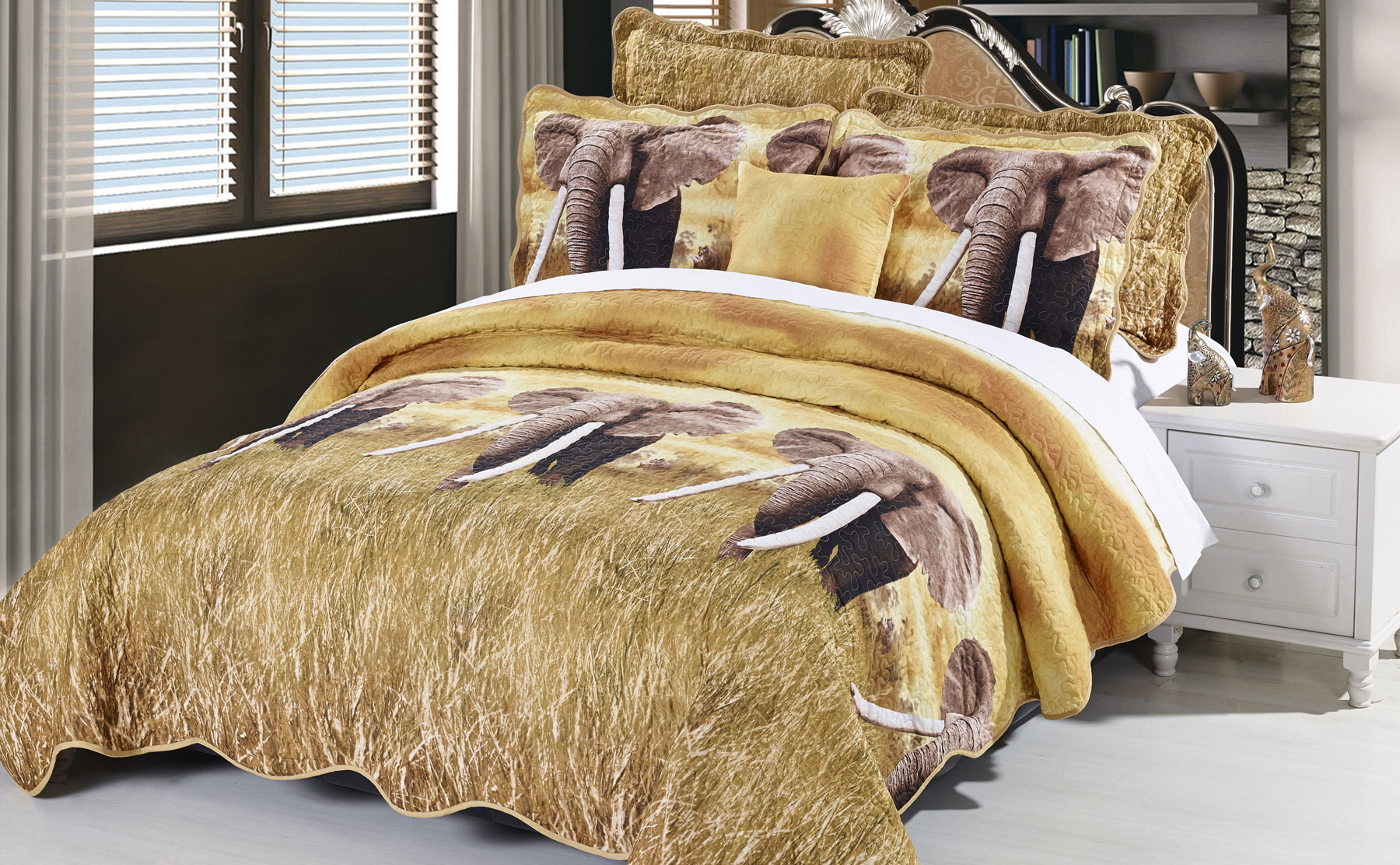 Elephant Safari Bed Coverlet Set