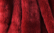 Double Sided Faux Fur Oversized Throws Chili Red Detail