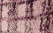 Violet Dark Plum Multi-Color Chenille Throw Up Close