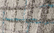 Grey Blue Multi-Color Chenille Throw Up Close