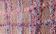 Purple Multi-Color Chenille Throw Up Close