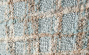 Light Blue Multi-Color Chenille Throw Up Close