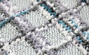 Multi-Color Chenille Throw Up Close