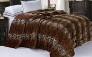 Cheetah Animal Nature Faux Fur & Sherpa Backing Blanket