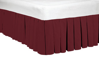 "Ruby Wine Classic Dust Ruffle 14"" Bed Skirts"