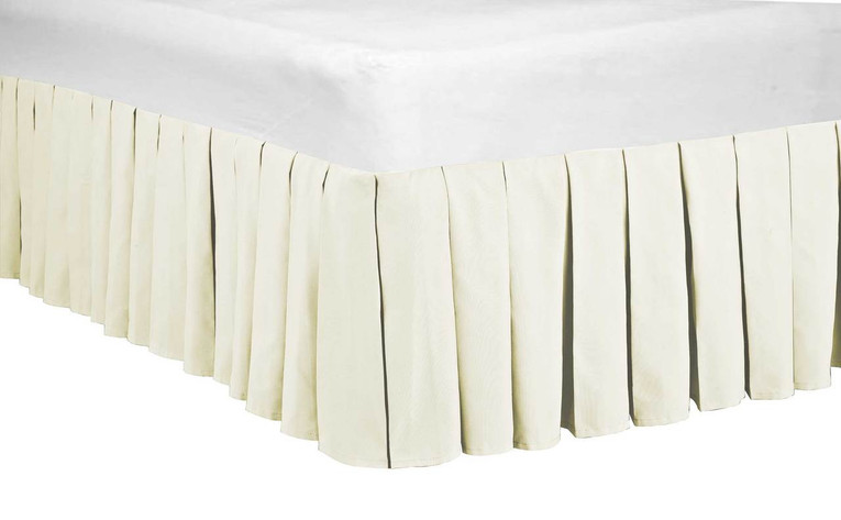Ivory Classic Dust Ruffle 14 Inch Bed Skirt
