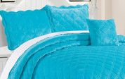 Scuba Blue Supersoft Microplush Quilted Bedspreads