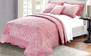 Pink Supersoft Microplush Quilted Bedspreads