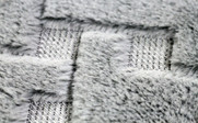 Tatami Quilted Faux Fur Bed Spread Up Close