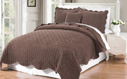 Chestnut Diamond Square Quilted Coverlet Bedspread Collection