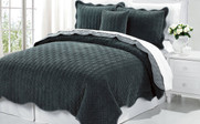 Balsam Green Diamond Square Quilted Coverlet Bedspread Collection