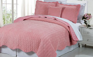 Rose Diamond Square Quilted Coverlet Bedspread Collection