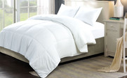 Down Alternative White Comforter 3 Piece Set