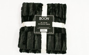 Black Saga Double Sided Faux Fur Throw Pack