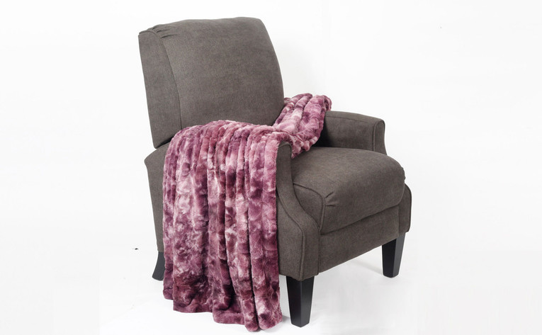 Purple Tie Dye Double Sided Faux Fur Throw
