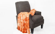 Orange Tie Dye Double Sided Faux Fur Throw