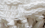 White Cable Knitted Throw Detail Up Close
