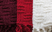 Cable Knitted Throw Detail Up Close Collection