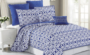 Blue Montgomery Bed Spread Set Collection