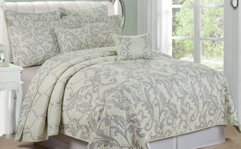 Marisol Quilted 7 Piece Bed Spread Set Collection