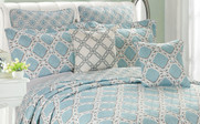 Monroe Quilted 7 Piece Bed Spread Pillow Set