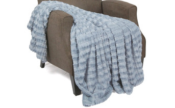 Ashley Blue Garret Faux Fur Throw