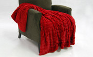 Jester Red Fulton Faux Fur Throw