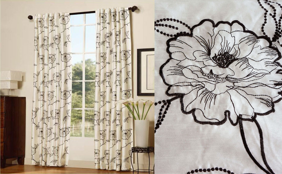 Magnolia Embroidery Curtains